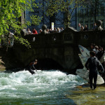 Eisbach - pohled na most