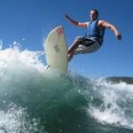 Surfing za člunem na surfu